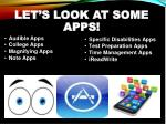let s look at some apps