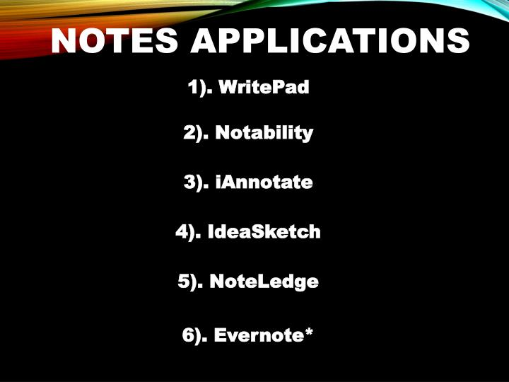 Notes Applications