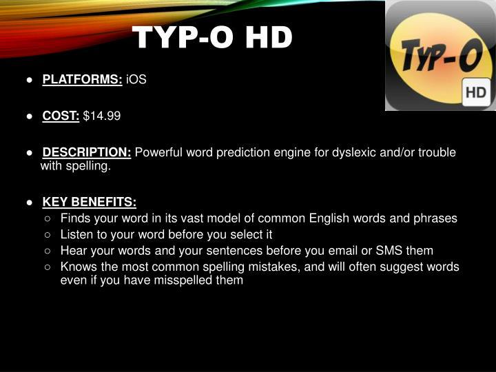 Typ-o HD