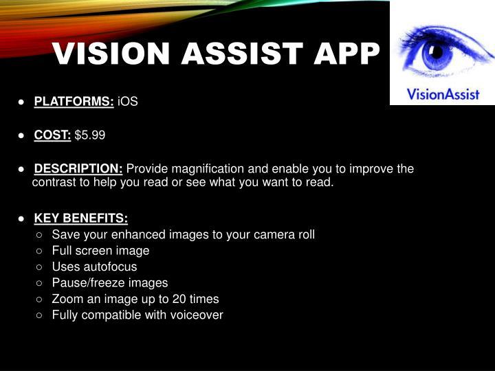 Vision Assist App