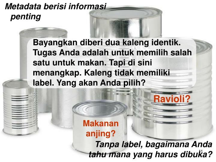 Metadata berisi informasi penting