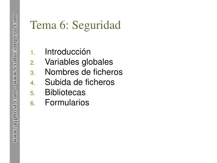 Tema 6: Seguridad