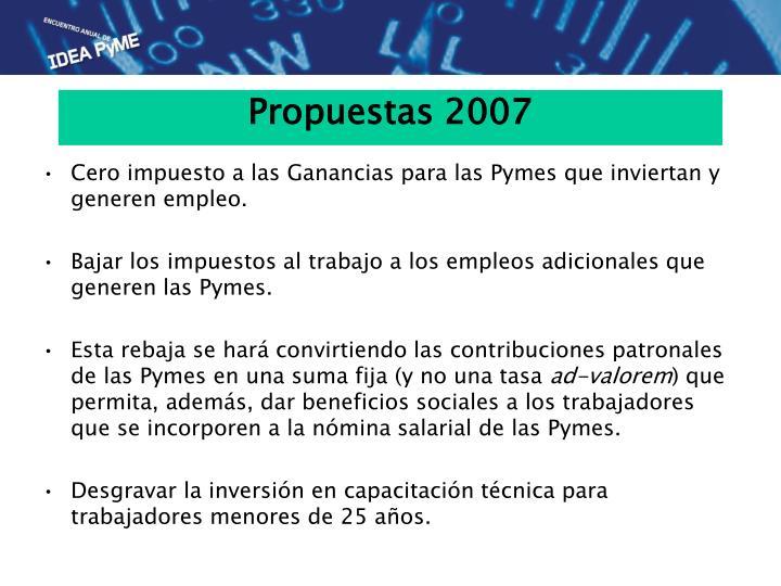 Propuestas 2007
