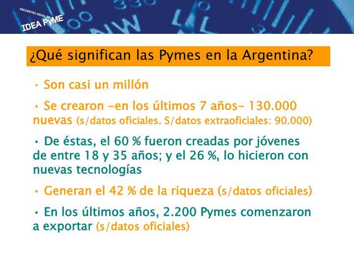 ¿Qué significan las Pymes en la Argentina?