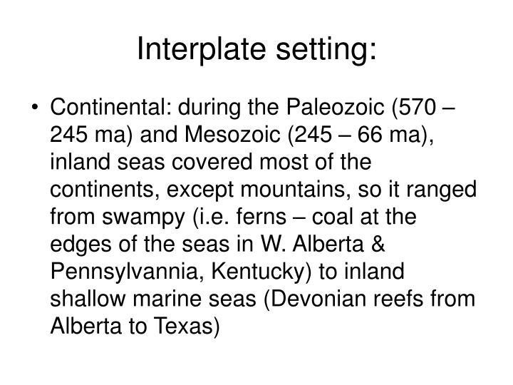 Interplate setting: