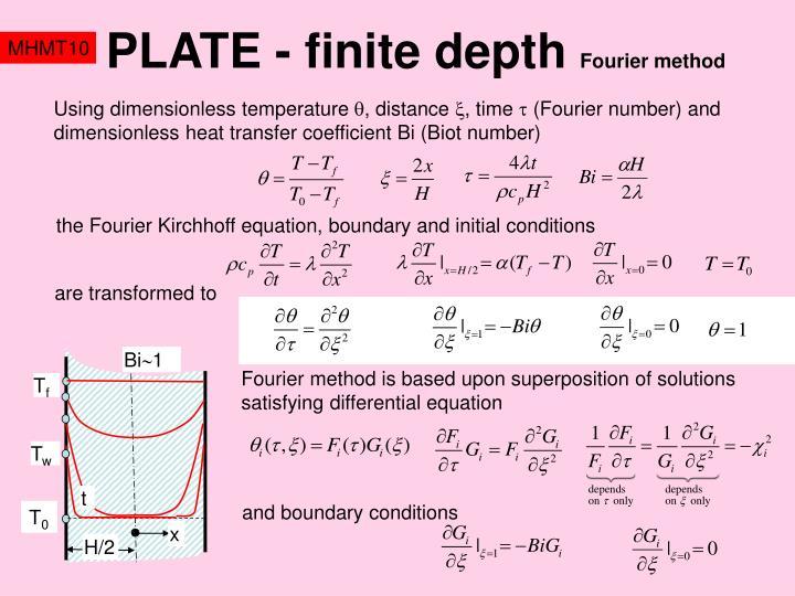 PLATE - finite depth