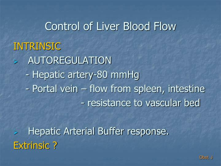 Control of Liver Blood Flow