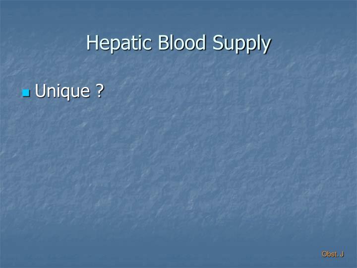Hepatic Blood Supply