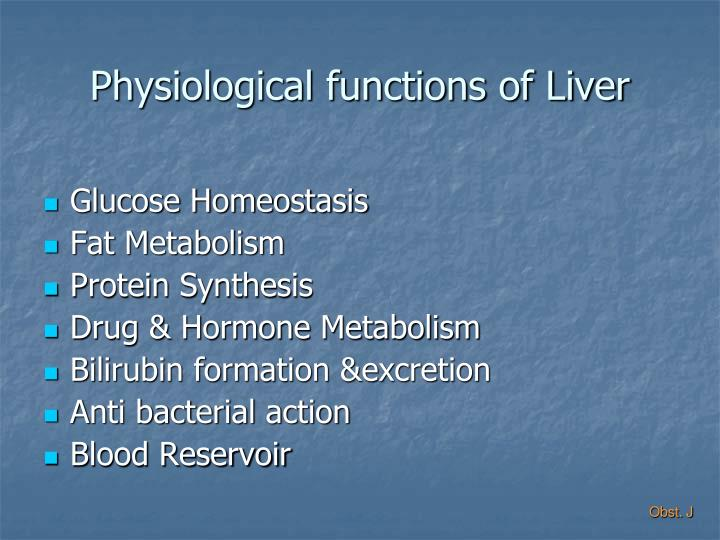 Physiological functions of liver