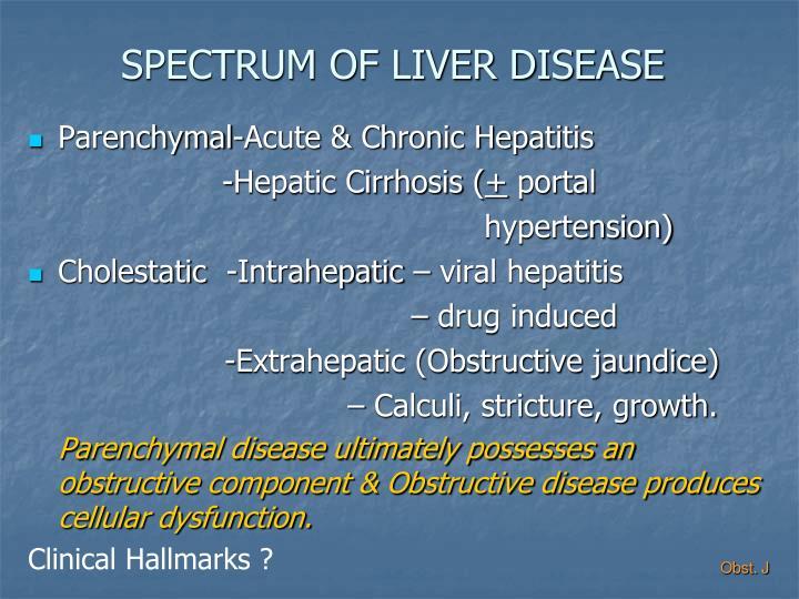 SPECTRUM OF LIVER DISEASE