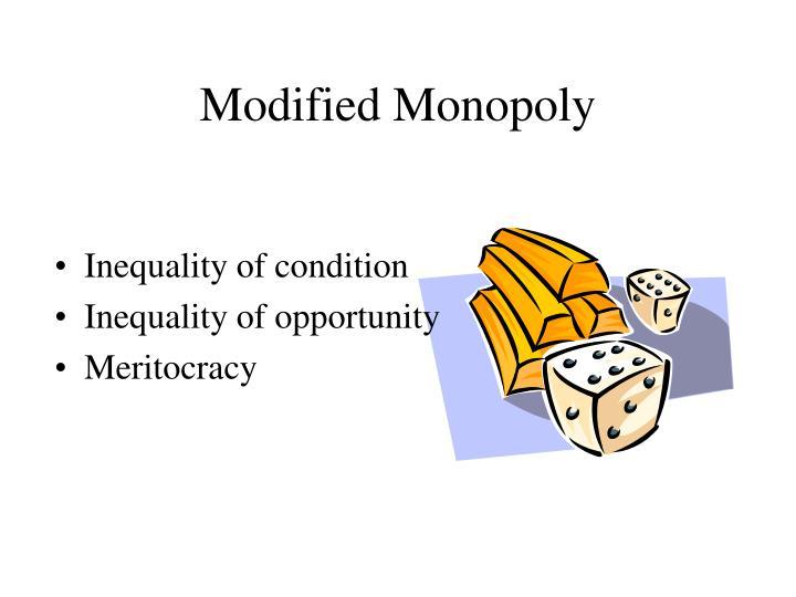 Modified Monopoly