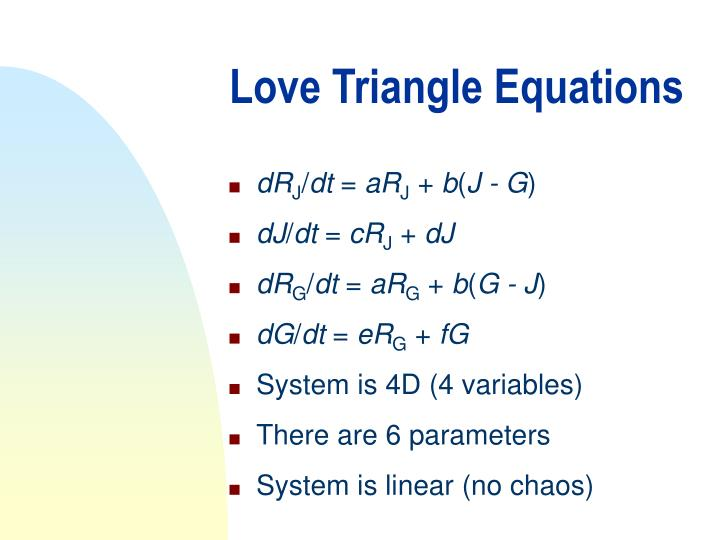 Love Triangle Equations