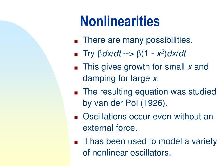 Nonlinearities
