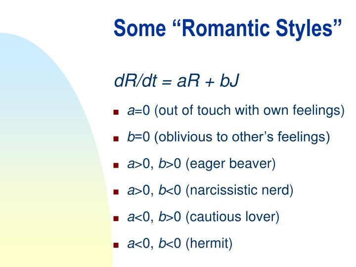 "Some ""Romantic Styles"""