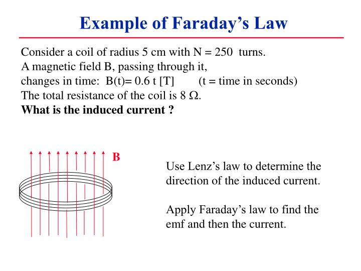 Example of Faraday's Law