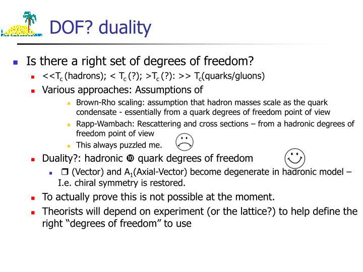 DOF? duality