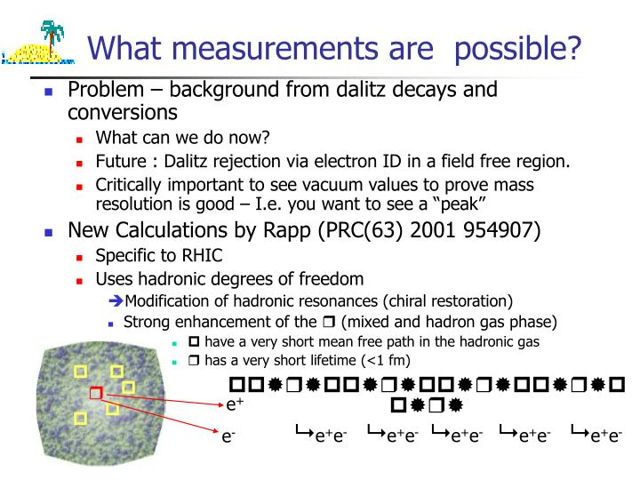 What measurements are  possible?