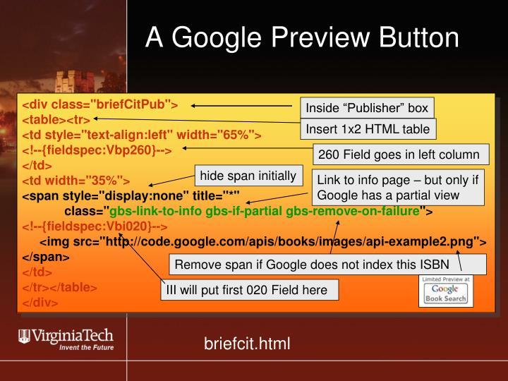 A Google Preview Button