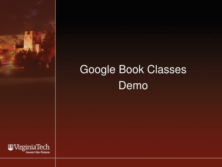 Google Book Classes