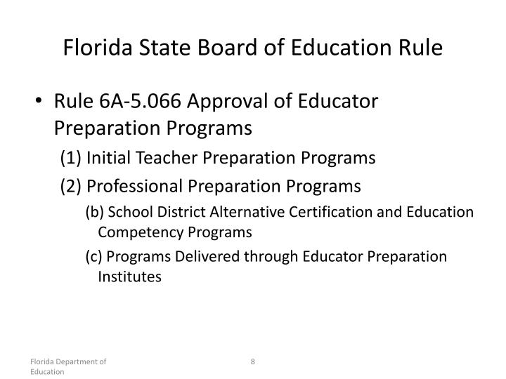 Florida State Board of Education Rule