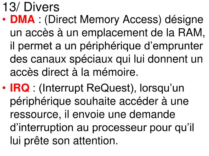 13/ Divers