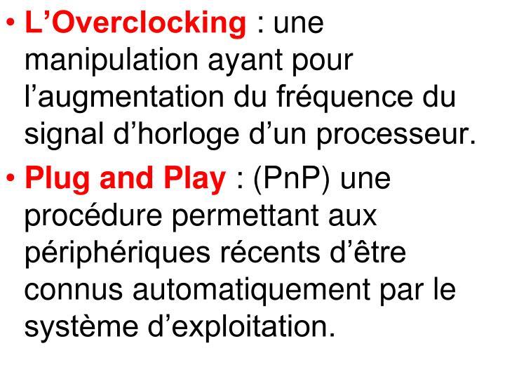 L'Overclocking