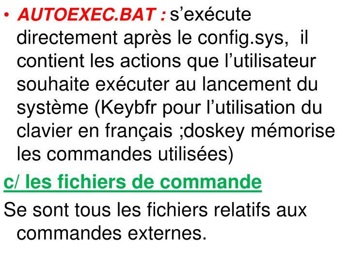 AUTOEXEC.BAT:
