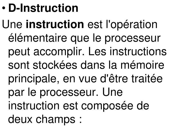 D-Instruction