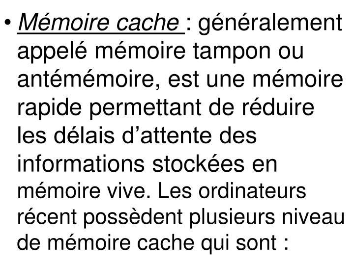 Mémoire cache