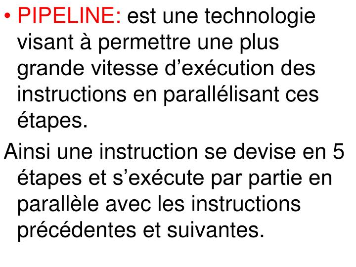 PIPELINE: