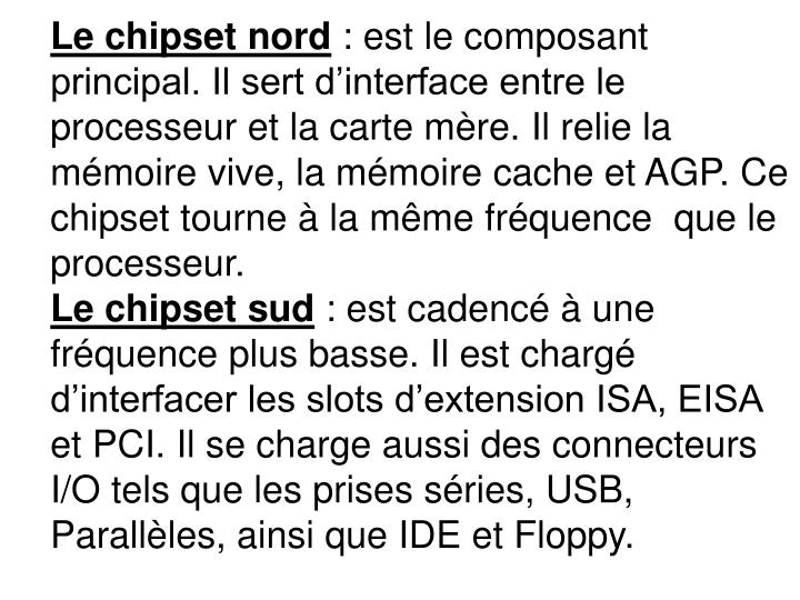 Le chipset nord