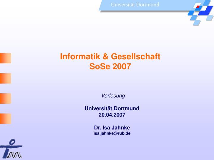 Informatik & Gesellschaft