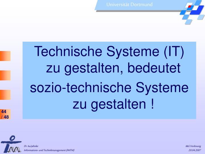Technische Systeme (IT)