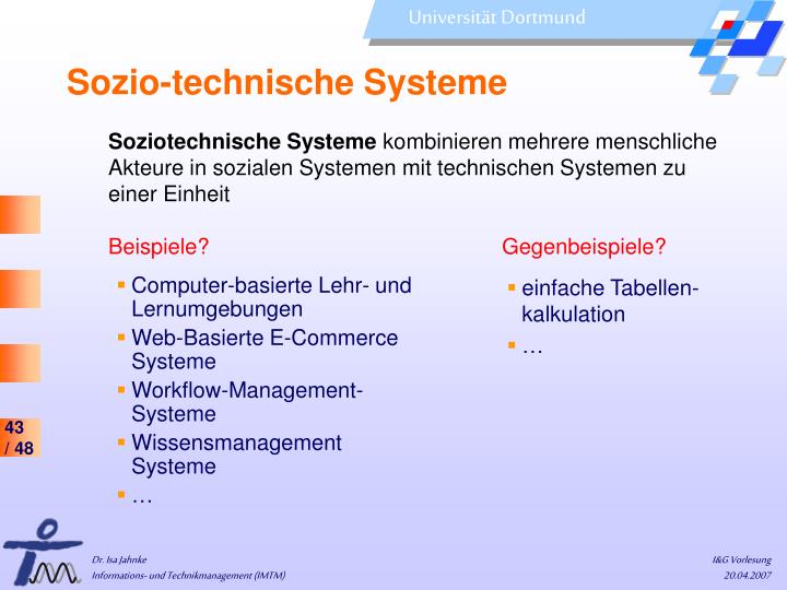 Sozio-technische Systeme