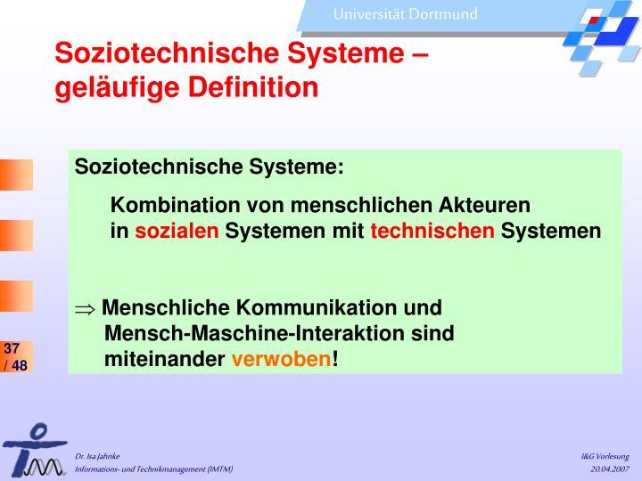Soziotechnische Systeme –