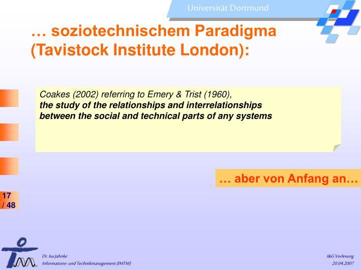… soziotechnischem Paradigma