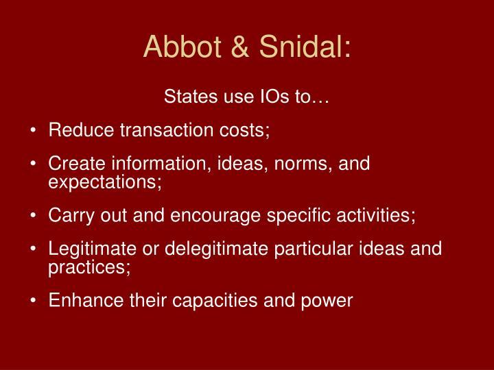 Abbot & Snidal: