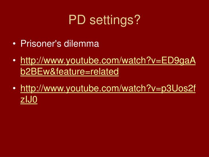PD settings?