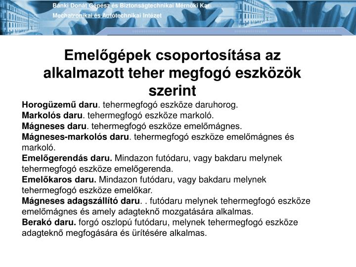 Bánki Donát Gépész és Biztonságtechnikai Mérnöki Kar