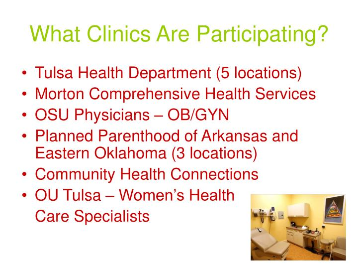 What Clinics Are Participating?