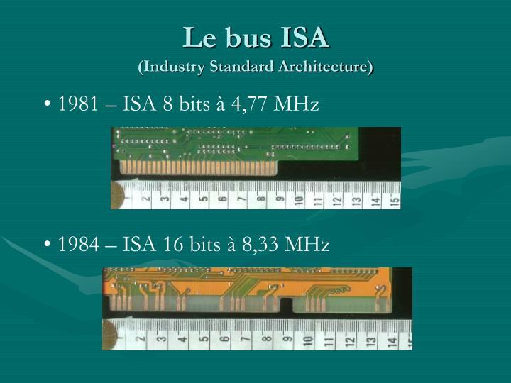 Le bus ISA
