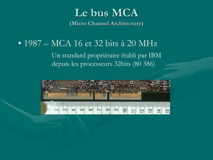 Le bus MCA