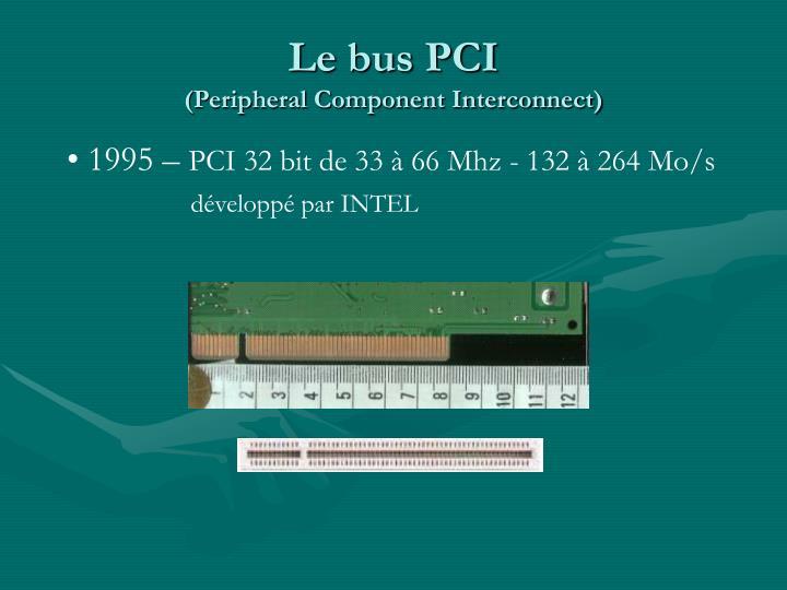 Le bus PCI