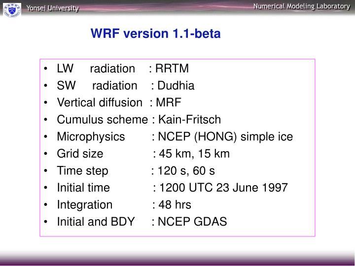 LW     radiation    : RRTM