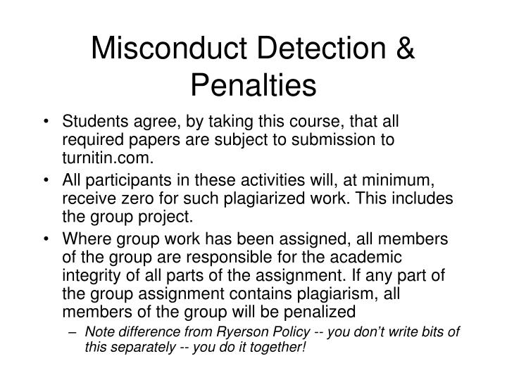 Misconduct Detection & Penalties
