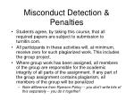 misconduct detection penalties