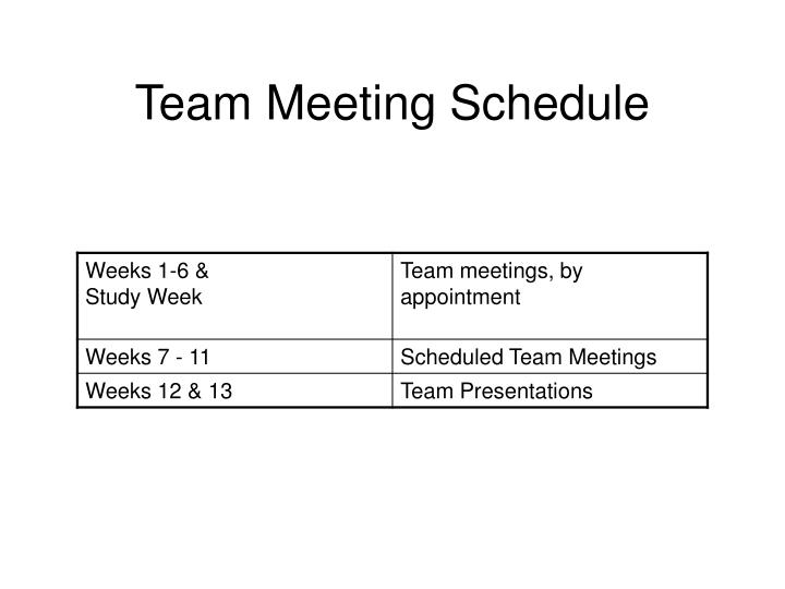 Team Meeting Schedule