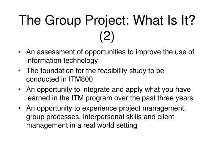 The Group Project: What Is It? (2)