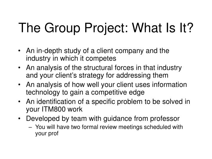 The group project what is it