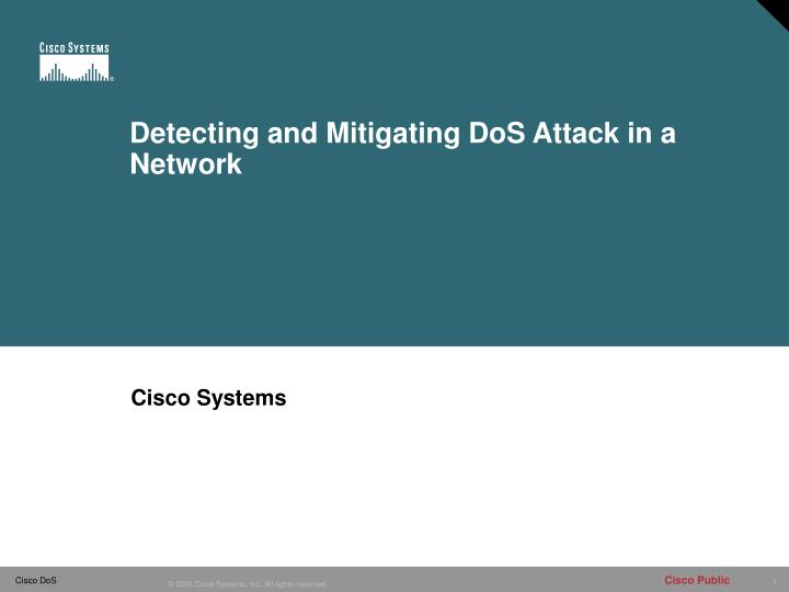Detecting and mitigating dos attack in a network